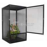 TERRARIUM 60x60x120cm czarne SIATKA SCREEN REPTI GOOD